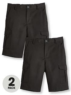 v-by-very-boys-2-pack-combat-school-shorts-black