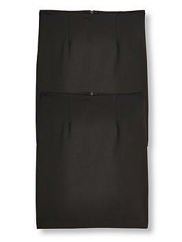 v-by-very-girls-2-pack-woven-pencil-school-skirt-black