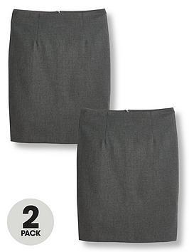 v-by-very-girls-2-packnbspwoven-school-pencil-skirt-grey
