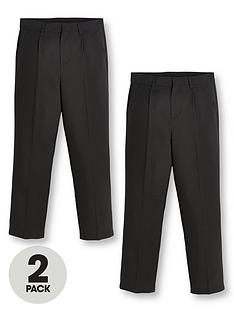 v-by-very-boys-2-pack-classic-woven-regular-fitnbspschool-trousers-black