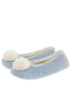 monsoon-isabella-faux-fur-ballerina-slippers-blue