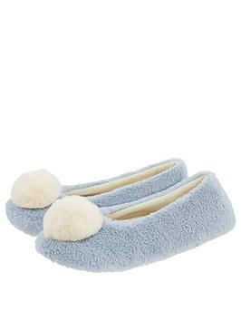 monsoon-isabella-faux-fur-ballerina-slippers-blue