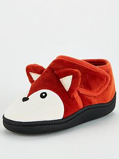 v-by-very-unisex-fox-velcro-slipper-brown