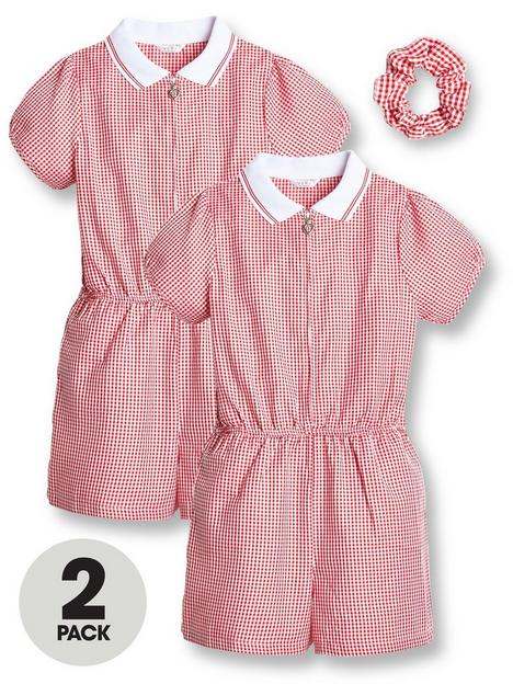 v-by-very-girls-2-pack-gingham-school-playsuit-red