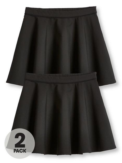 v-by-very-girls-2-pack-woven-skater-school-skirts-black