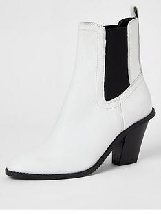 river-island-river-island-leather-western-boot-white