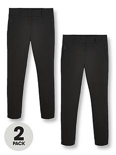 v-by-very-girls-2-pack-skinny-fitnbspschool-trousers-black