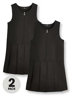 v-by-very-girls-2-pack-pleat-school-pinafore-black