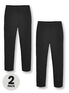 v-by-very-girls-2-pack-woven-school-trouser-regular-fitnbsp--black