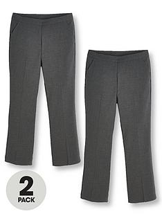 v-by-very-girls-2-pack-woven-school-trouser-plus-grey