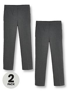 v-by-very-girls-2-pack-woven-school-trouser-reg-grey