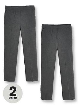 v-by-very-girls-2-pack-woven-school-trouser-regular-fit-grey