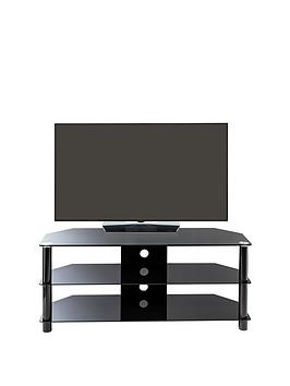 Alphason Essentials 120 Cm Glass Tv Stand - Fits Up To 50 Inch Tv