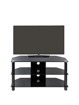 Alphason Essentials 100 Cm Glass Tv Stand - Fits Up To 42 Inch Tv
