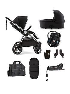 mamas-papas-ocarro-8-piece-bundle-pushchair-carry-cot-car-seat-isofix-base-adaptor-cupholder-changing-bag-and-footmuff-black