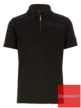 river-island-boys-maison-riviera-short-sleeve-polo-black