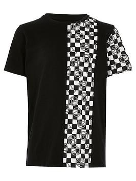 river-island-boys-mono-checkerboard-print-tshirt-black