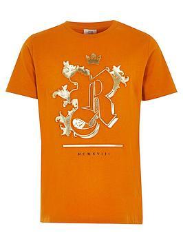 river-island-boys-foil-embossed-t-shirt-ochre