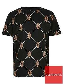 river-island-boys-diamond-print-tshirt-black