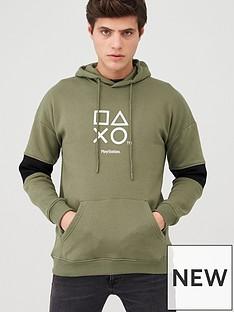 playstation-playstation-hoodie-khaki