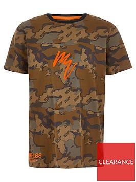 river-island-boys-camo-maison-riviera-t-shirt-brown