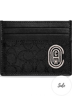 coach-menrsquos-signature-jacquard-embroidered-logo-card-case-black