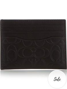 coach-mens-embossed-signature-leather-card-case-black