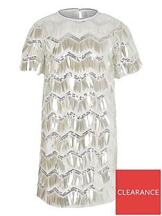 river-island-girls-sequin-tshirt-dress--silver