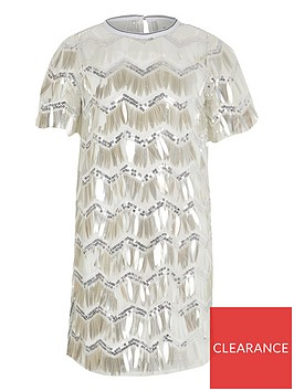 river-island-girls-sequin-tshirt-dress--silver