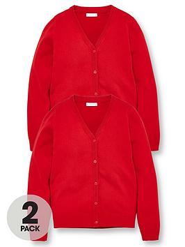 v-by-very-girls-2-pack-school-cardigans-red