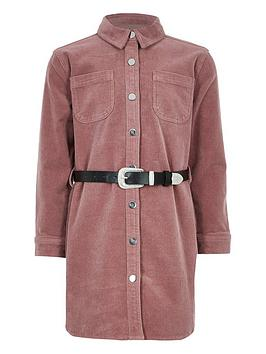 river-island-girls-cord-western-belted-dress-pink