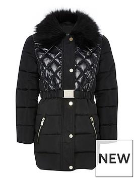 river-island-girls-longline-padded-coat-black