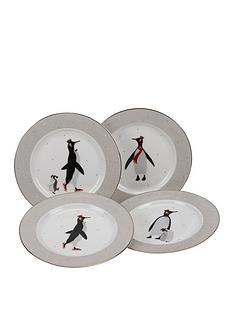 sara-miller-penguin-christmasnbspcake-plates-ndash-set-of-4