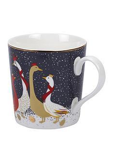 sara-miller-festive-geese-mug