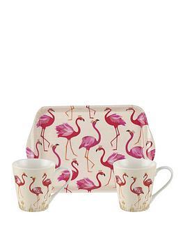 sara-miller-flamingo-mug-and-tray-set