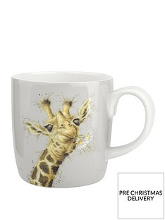 royal-worcester-wrendale-giraffe-flowers-large-mug