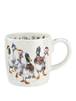 royal-worcester-wrendale-duck-the-halls-mug