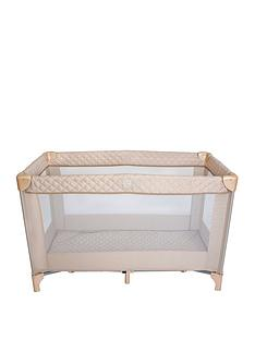 my-babiie-blush-quilted-travel-cot