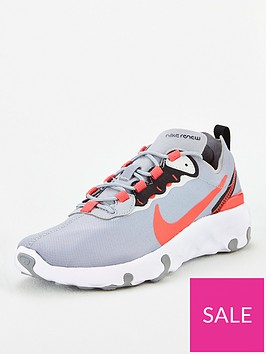 nike-renew-element-55-junior-trainers-greyred