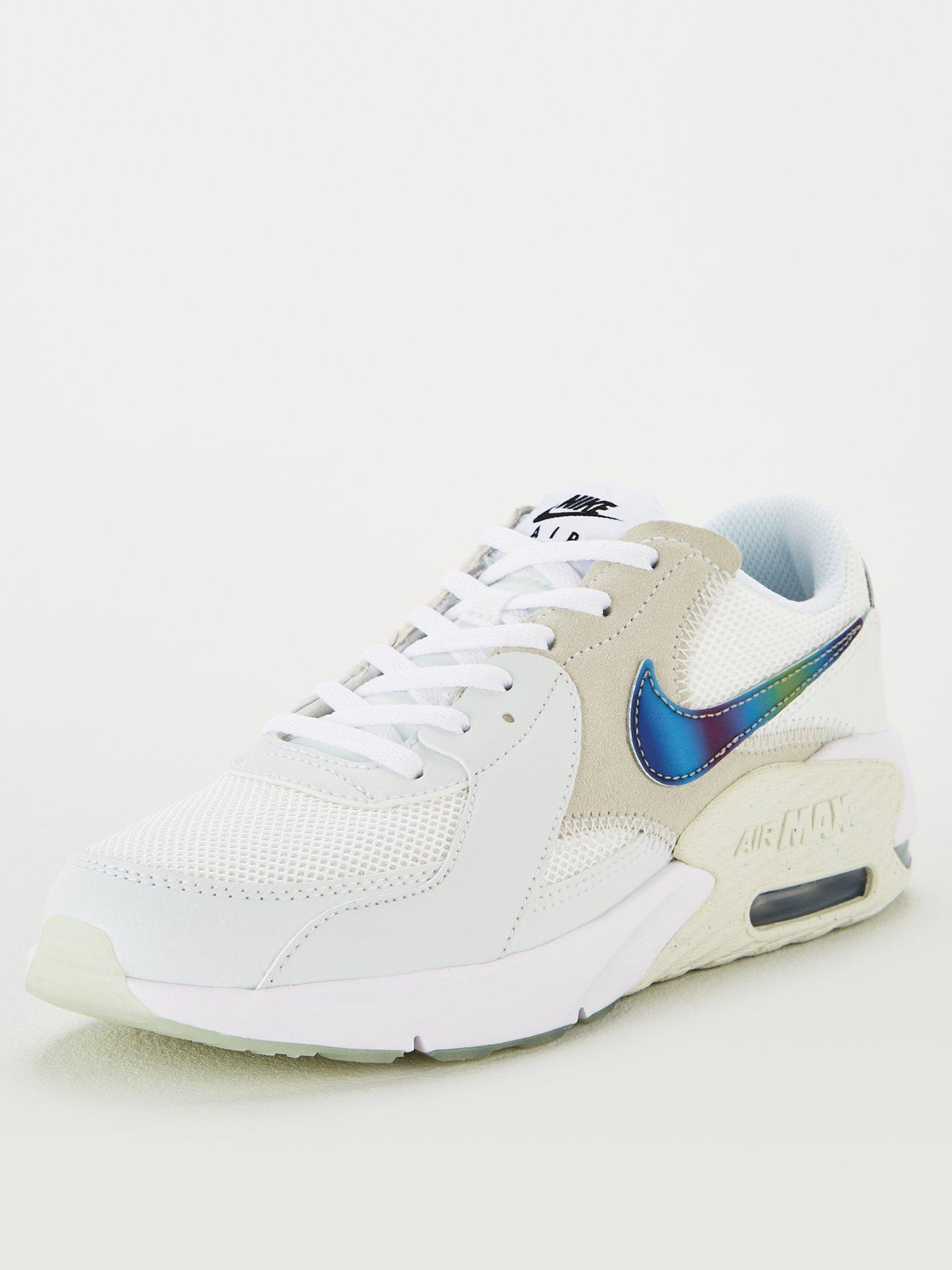 Nike Air Max 1 Boys Girls Trainer Shoe Size 4.5 WHITE RRP £65//