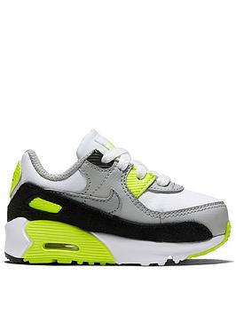 nike-air-max-90-infant-trainers-whitegrey