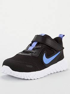 nike-revolution-5-glitter-infant-trainers-blackblue