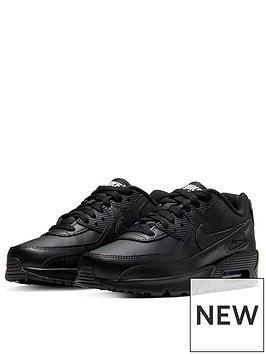 nike-air-max-90-leather-junior-trainer-black
