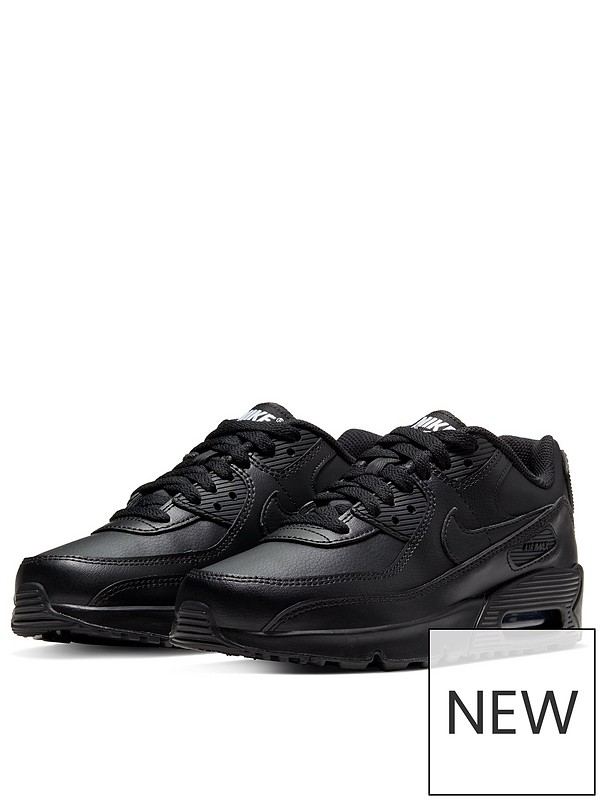 Air Max 90 Leather Junior Trainer Black