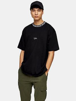 topman-signature-rib-t-shirt-black