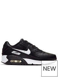 nike-air-max-90-leather-junior-trainers-blackwhite