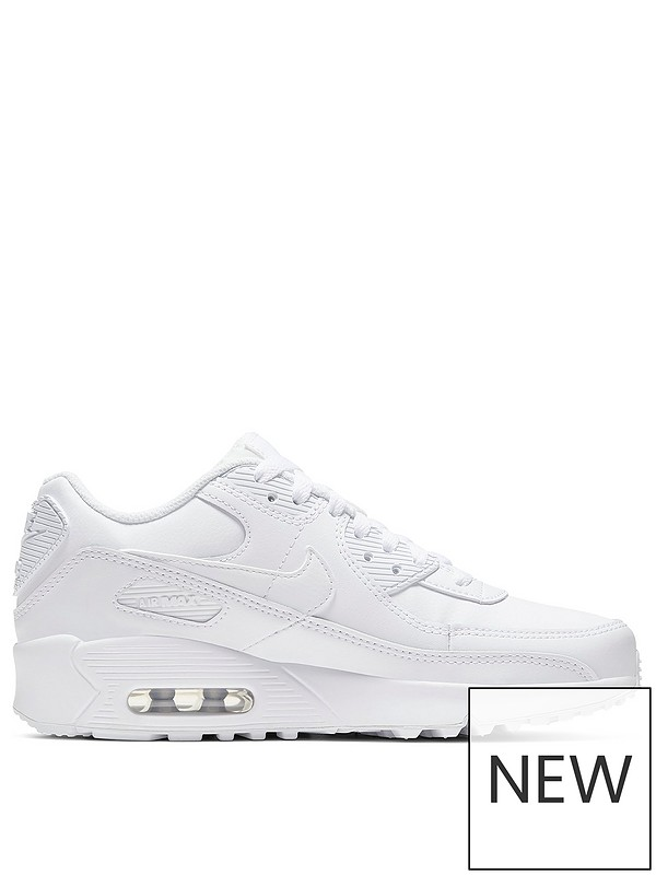 Air Max 90 Leather Junior Trainers White
