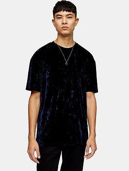 topman-crushed-velvet-t-shirt-navy