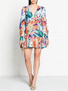 vestire-miami-nights-long-sleeve-mini-dress-multicolour