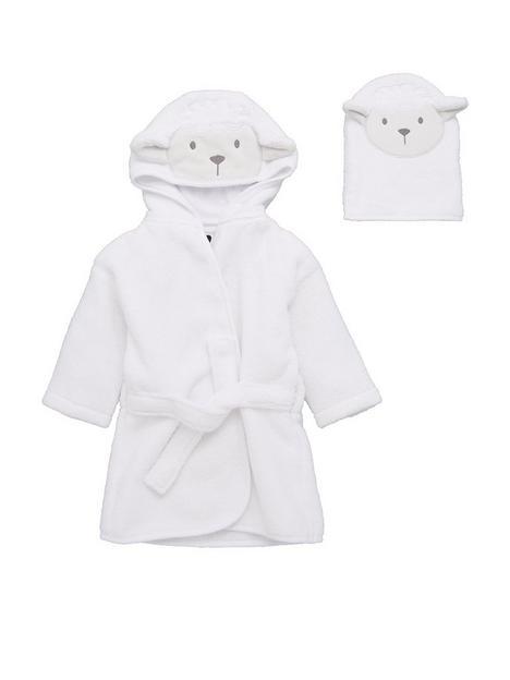 v-by-very-baby-giftingnbspbaby-unisex-2-piece-lamb-robe-wash-mitt-set-cream